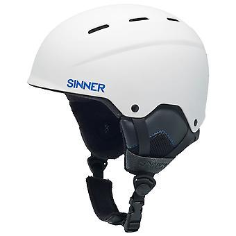 Sinner Matte White Typhoon Ski Helmet
