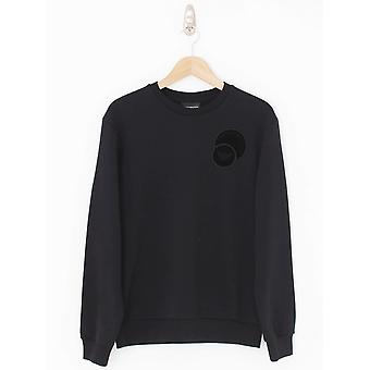 Emporio Armani Floc Circle Logo Crew Neck Sweat - Black