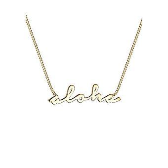 Elli gull-belagt kvinners halskjede