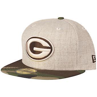 New Era 59Fifty Cap HEATHER OAT Green Bay Packers wood camo