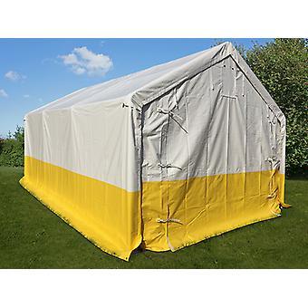 Lager- og arbeidstelt PRO 4x6m, PVC, hvit/gul, flammehemmende