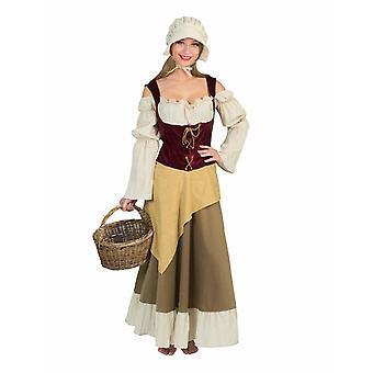 Keskiaikainen viljelijän puku hyvät piika piika piika ServiceMaid naisten puku teema puolue karnevaali