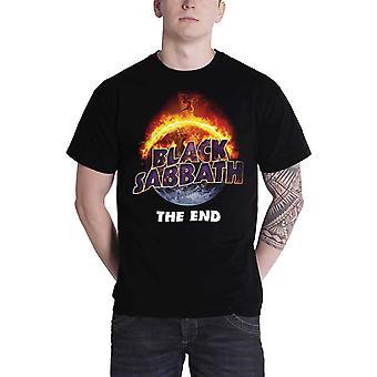 Black Sabbath T Shirt The End 2016 Tour Flaming Ozzy Official Mens New Black