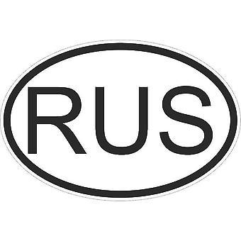 Autocollant Naklejka Drapeau Owalny kod płaci Voiture Moto Russie Russe Russe Rus