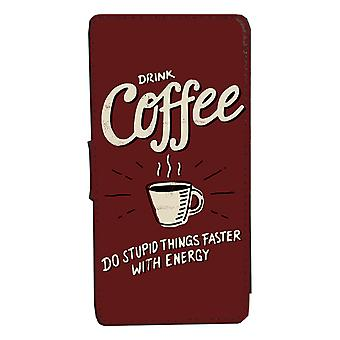 iPhone 7/8 Funny kafe design Case Shell Wallet