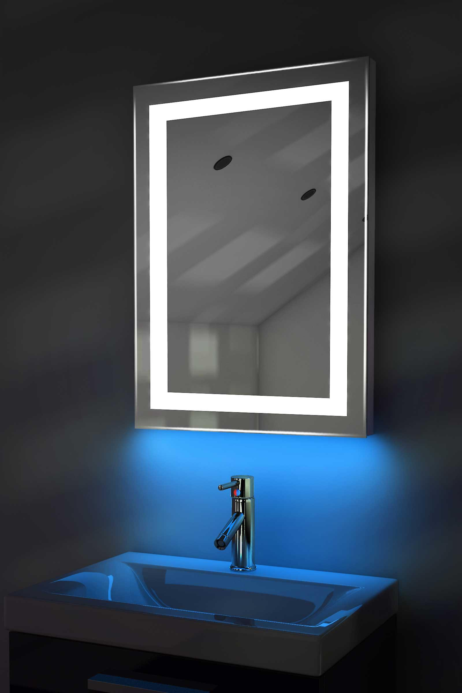 Auto Colour Change RGB LED Mirror With Demister & Sensor K160irgb