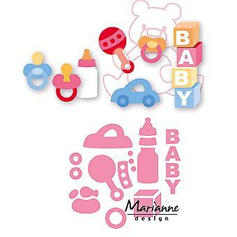 Marianne Design Collectables Eline's Baby Essentials Die, Pink