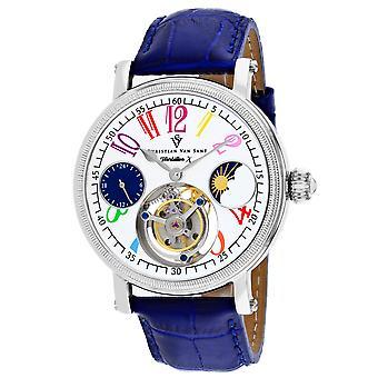 Christian Van Sant Men-apos;s Tourbillon X Limited Edition White Dial Watch - CV0991