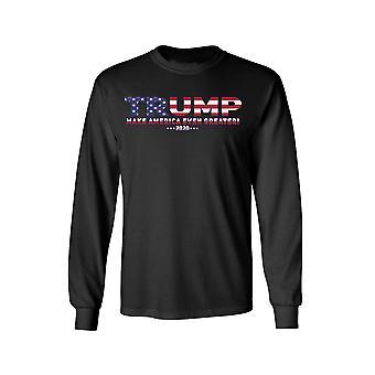 F1714EZ.LST - Unisex Trump USA Make America Even Greater Long Sleeve Shirt