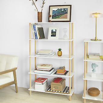 SoBuy 5 Tiers Stockage Étagère Étagère Rack Standing Shelf Unit,STR04-WN