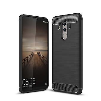 Casco para Huawei Mate 10 Pro Efecto Carbono Negro