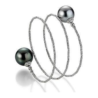 Yana Nesper - Bracelet - Femmes - WRAPme Tahiti Bracelet perlé UN117, en Or Blanc