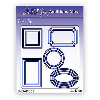 John Next Door Additions Die Set Mini Tags | Set of 11