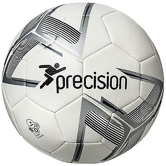 Precision Fusion Recreational Match Training Football Soccer Ball White/Silver