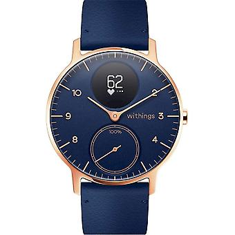 Withings - Activity Tracker - Smartwatch - STEEL HR Limited Edition - 36mm Blue & Rose Gold -
