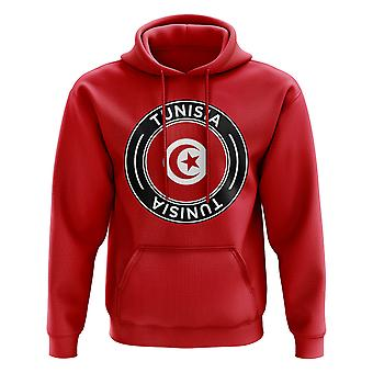 Tunisia Football Badge Hoodie (Red)