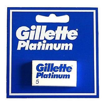 Replacement razorblade Platinum Gillette (5 uds)