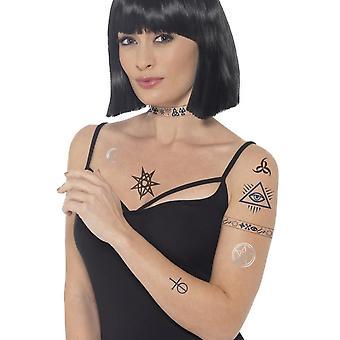 Occult Tattoo Transfers, BLUE/ BLACK