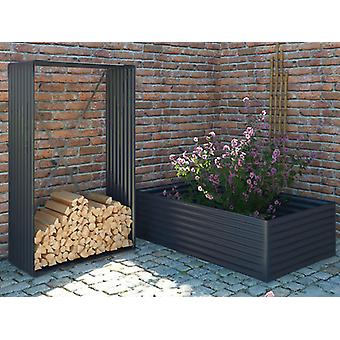Wood Storage/raised garden bed, 1.10x0.52x1.80 m ProShed®, Anthracite