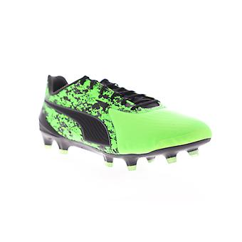 Puma One 19.1 CC FG AG  Mens Green Athletic Soccer Cleats Shoes