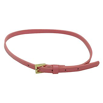 10mm Girls Pink Thin PU Leather Waist Belt