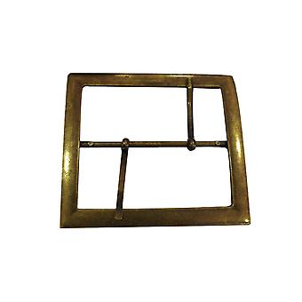 Large Rectangle Antique Brass Buckle with Two Pins