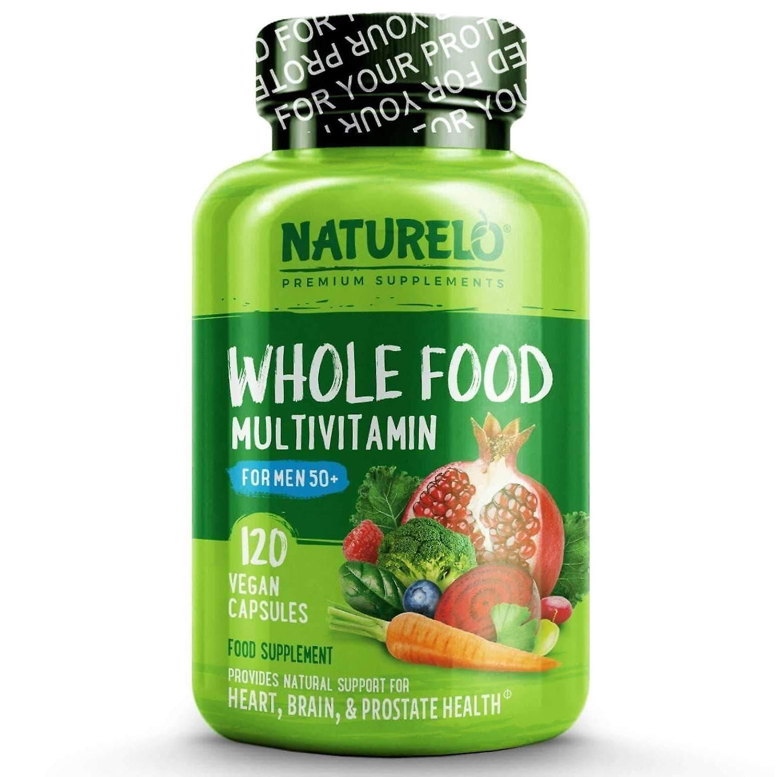 Whole food multivitamin for men 50+ with natural vitamins & prostate support