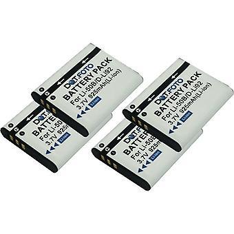 4 x batteria di ricambio LI-50BB Dot.Foto Olympus LI-50B, LI-50BA, - 3.7 v / 925mAh