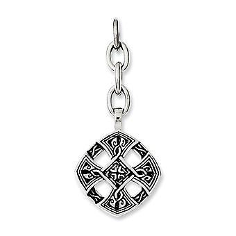 Edelstahl poliert religiösen Glauben Kreuz austauschbare Anhänger Anhänger Halskette Schmuck Geschenke für Frauen