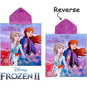 Frozen Frost 2 Magical Journey Badponcho Bath Towel Poncho 115*55cm
