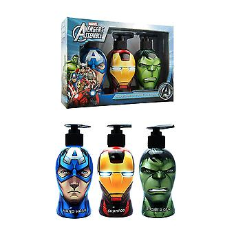 Marvel Avengers toiletartikelen Trio Set (300ml) handwas, Shampoo en douchegel