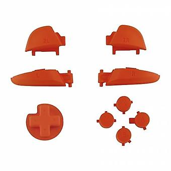 Button set for nintendo switch pro controller replacement a b x y, d-pad, l r zr zl triggers soft touch - orange | zedlabz