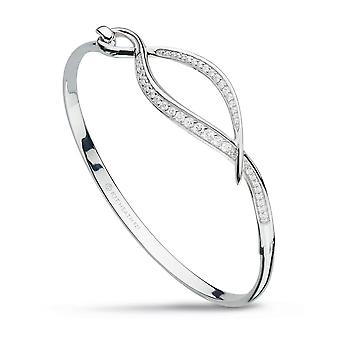 Kit Heath Entwine Twine Twist Cubic Zirconia Pave Hinged Bangle 70227CZ
