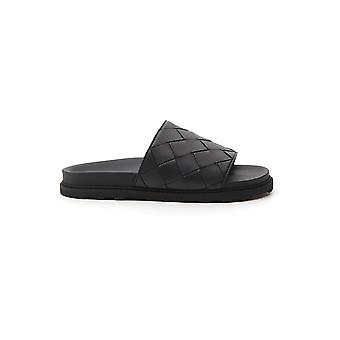 Bottega Veneta 578264vt0301000 Men's Black Leather Sandals