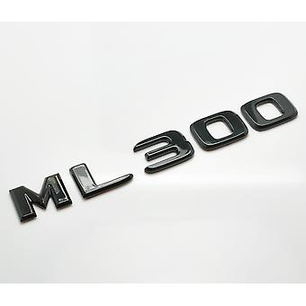 Gloss Black ML300 Flat Mercedes Benz Car Model Rear Boot Number Letter Sticker Decal Badge Emblem For M Class W163 W164 W166 AMG