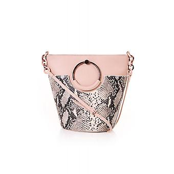 Ted Baker Womens Accessories Aliena Resin Handle Imitation Snake Buckle Bag