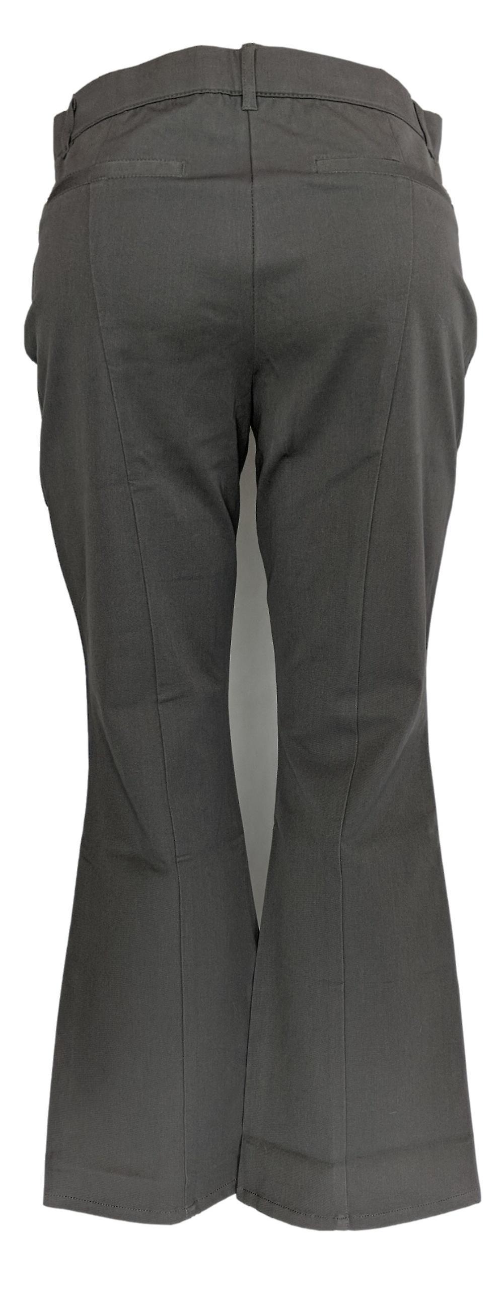 Isaac Mizrahi Live! Women's Petite Pants 24/7 Stretch Boot Cut Gray A279254 c92J4V