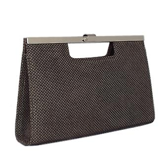Peter Kaiser Wye Evening Bag In Taupe Moon Suede