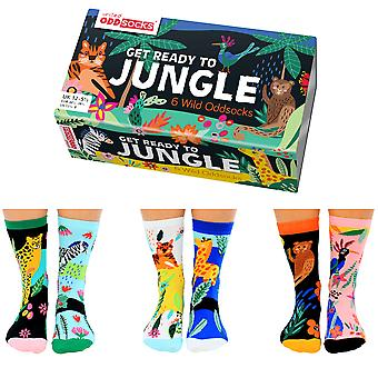 United Oddsocks Get Ready To Jungle Sock Gift Set For Girl's