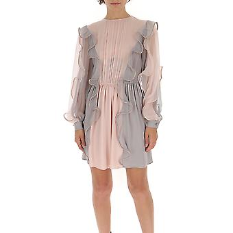 Alberta Ferretti 04426614v1169 Women's Pink Silk Dress