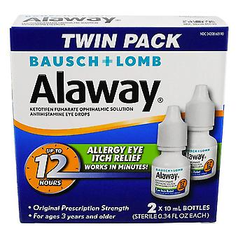 Alaway antihistamine eye drops, 0.34 oz x 2 ea
