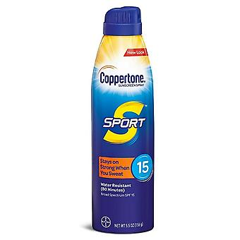 Coppertone sport continuous spray sunscreen, spf 15, 5.5 oz