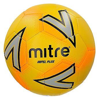 Mitre Impel Plus Mid Level Training Football Soccer Ball Yellow/Silver/Orange