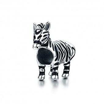 Sterling Silver Charm Zebra Horse - 5542