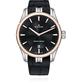 Edox - Wristwatch - Men - Grand Ocean - Slim Line Date - 56002 357RC NIR