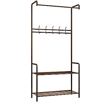 Clothes Laundry Drying Rack with 5-hook Floor-standing Clothes Drying Rack Indoor Outdoor Use
