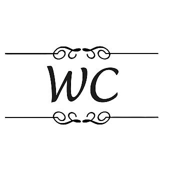 Wall décor | Toilet decoration | WC | Lucida Font | 2-Pack