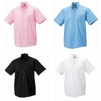 Russell Collection Mens Short Sleeve Ultimate Non-Iron Shirt