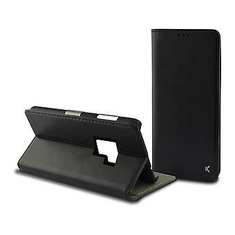 Custodia per telefono cellulare Folio Galaxy S9 KSIX Slim Black