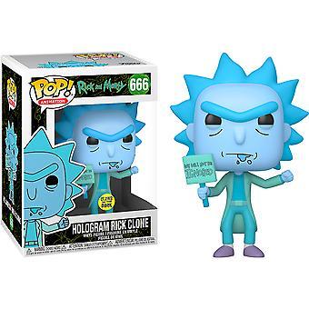 Rick en Morty Hologram Rick genegeerd US Excl Pop! Vinyl